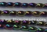 CHE796 15.5 inches 3*5mm rice plated hematite beads wholesale