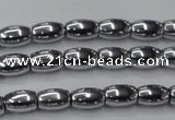 CHE809 15.5 inches 5*8mm rice plated hematite beads wholesale