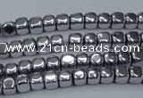 CHE858 15.5 inches 3*3mm dice platedhematite beads wholesale