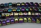 CHE860 15.5 inches 3*3mm dice platedhematite beads wholesale