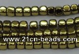 CHE864 15.5 inches 3*3mm dice platedhematite beads wholesale