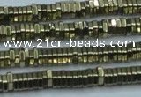 CHE914 15.5 inches 1*3mm hexagon plated hematite beads wholesale