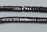 CHE927 15.5 inches 1*2*3mm oval hematite beads wholesale