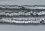 CHE928 15.5 inches 1*2*3mm oval plated hematite beads wholesale