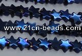 CHE942 15.5 inches 4mm star plated hematite beads wholesale