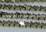 CHE946 15.5 inches 6mm star plated hematite beads wholesale