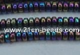 CHE969 15.5 inches 2*4mm rondelle plated hematite beads wholesale