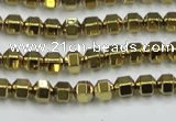 CHE983 15.5 inches 4*4mm plated hematite beads wholesale