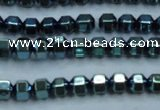 CHE986 15.5 inches 4*4mm plated hematite beads wholesale