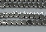 CHE991 15.5 inches 4*4mm heart plated hematite beads wholesale