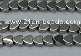 CHE999 15.5 inches 6*6mm heart plated hematite beads wholesale
