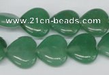 CHG55 15.5 inches 15*15mm heart green aventurine beads wholesale