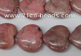 CHG71 15.5 inches 18*18mm heart rhodochrosite beads wholesale