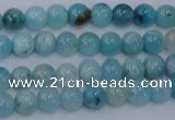 CHM200 15.5 inches 4mm round blue hemimorphite beads wholesale