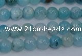 CHM201 15.5 inches 6mm round blue hemimorphite beads wholesale