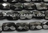 CHS35 15.5 inches 10*14mm faceted rectangle natural hypersthene beads