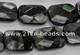 CHS38 15.5 inches 15*20mm faceted rectangle natural hypersthene beads