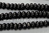 CHS54 15.5 inches 4*8mm rondelle natural hypersthene beads