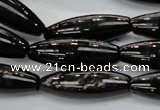CHS56 15.5 inches 10*30mm rice natural hypersthene beads