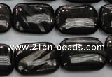 CHS92 15.5 inches 15*20mm rectangle natural hypersthene beads