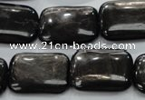 CHS93 15.5 inches 18*25mm rectangle natural hypersthene beads