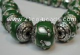 CIB145 18mm round fashion Indonesia jewelry beads wholesale