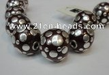CIB251 22mm round fashion Indonesia jewelry beads wholesale