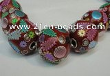 CIB361 23mm round fashion Indonesia jewelry beads wholesale