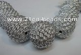 CIB455 30mm round fashion Indonesia jewelry beads wholesale