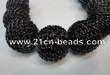 CIB456 30mm round fashion Indonesia jewelry beads wholesale