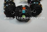 CIB462 25mm round fashion Indonesia jewelry beads wholesale