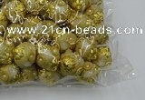 CIB531 22mm round fashion Indonesia jewelry beads wholesale