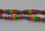 CIB586 16*60mm rice fashion Indonesia jewelry beads wholesale