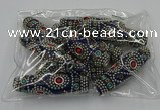CIB652 16*60mm rice fashion Indonesia jewelry beads wholesale