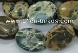 CIJ14 15.5 inches 18*25mm oval impression jasper beads wholesale