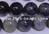 CIL08 15.5 inches 11mm round natural iolite gemstone beads