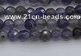 CIL117 15.5 inches 4mm faceted round iolite gemstone beads