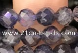 CIL121 15.5 inches 5mm faceted round iolite beads wholesale