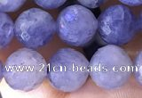 CIL124 15.5 inches 8mm faceted round iolite gemstone beads