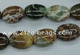 CJA18 15.5 inches 12*16mm oval green jasper beads wholesale