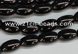 CJB53 15.5 inches 10*16mm rice natural jet gemstone beads