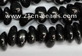 CJB55 15.5 inches 6*10mm nuggets natural jet gemstone beads