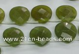 CKA120 Top-drilled 16*16mm faceted flat teardrop Korean jade beads