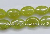 CKA33 15.5 inches 12*16mm oval Korean jade gemstone beads