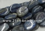 CKC09 16 inches 10*13mm flat oval natural kyanite beads wholesale
