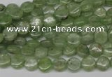 CKC251 15.5 inches 6mm flat round natural green kyanite beads