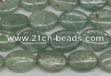 CKC271 15.5 inches 10*14mm oval natural green kyanite beads