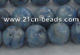 CKC705 15.5 inches 14mm faceted round imitation blue kyanite beads