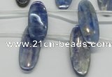 CKC76 Top drilled 10*30mm oval natural kyanite gemstone beads