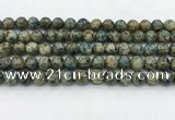 CKJ471 15.5 inches 8mm round natural k2 jasper beads wholesale